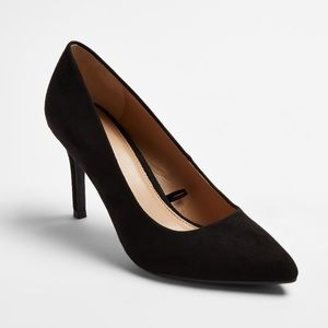 Black suade shoes